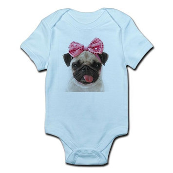 CafePress - Pug Body Suit - Baby Light Bodysuit