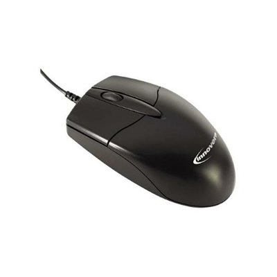 Innovera Basic Office Optical Mouse, 3 Buttons, Black, Boxed