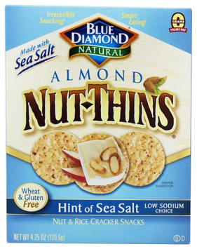 Blue Diamond Growers - Almond Nut-Thins Nut & Rice Cracker Snacks Hint of Sea Salt - 4.25 oz (pack of 4)