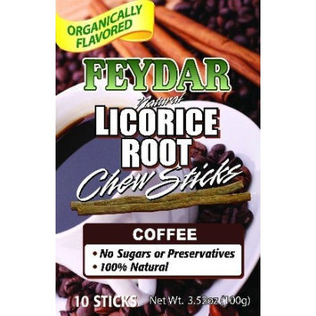 Feydar Industries Organically Flavored Coffee Chew Sticks (Licorice Roots)(Pack of 10)