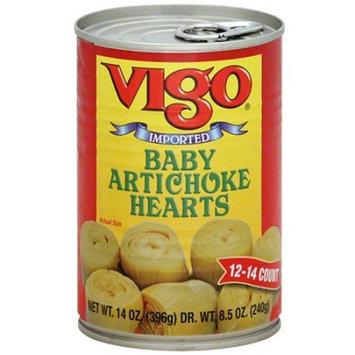 Vigo Baby Artichoke Hearts, 14 oz (Pack of 12)