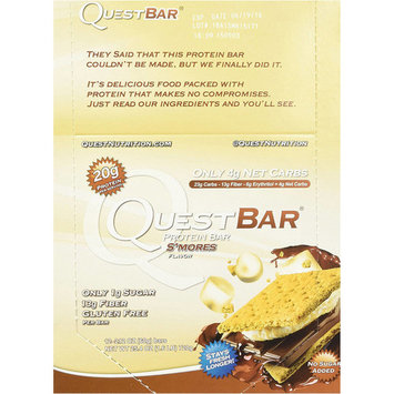 Quest Bar, S'Mores, 2.12 OZ (Pack of 12)