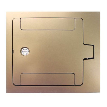 Wiremold Legrand RFB119BTCBS RFB9 RFB11 Series Cover, Tile or Carpet, Flush, Brass