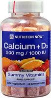 Nutrition Now 0324962 Calcium Adult Gummy Vitamins - 60 Gummies