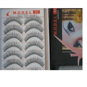 Model 21 High End No. 8, 12, or 17 False Fake Eyelashes 10 Pairs