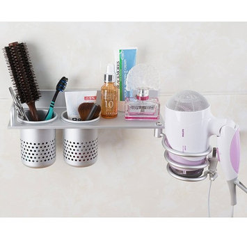Hair Dryer Storage Organizer Rack Comb Holder Wall Mounted Stand Bathroom Set