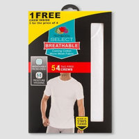 Fruit of the Loom® Men's Select Breathable 4+1pk Crew T-Shirts - White M