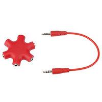 Clearance ! ღ Ninasill ღ Exclusive 3.5mm Headphone Earphone Audio Splitter 1 Male to 2 3 4 5 Female Cable