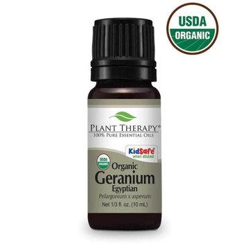 Plant Therapy Organic Geranium Egyptian Essential Oil 10 mL (1/3 fl. oz.) 100% Pure, Undiluted, Therapeutic Grade