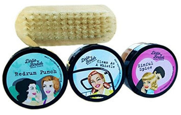 Piccadilly Products Inc Dirtie Birdie's Hand Scrub Value Pack - 3 (2oz) Jars of Scented Hand Cleaner w/ Bamboo Brush