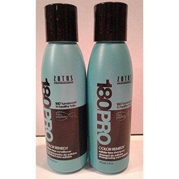 (1) Zotos Pro 180 Color Remedy Shampoo - 3.8 oz & (1) Conditioner - 3 oz : Beauty
