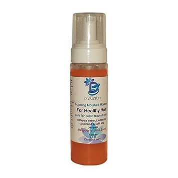 Foaming Moisture Mousse For Healthy Hair, Safe For Color Treated Hair, Raspberry Lime Scent, By Diva Stuff