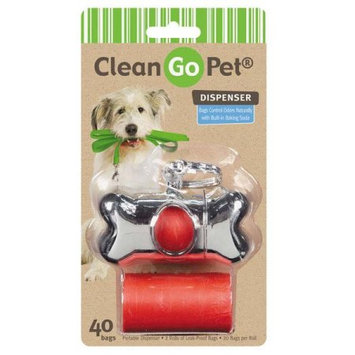 Clean Go Pet Bone Waste Bag Holder Silver