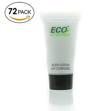 ECO AMENITIES Transparent Tube Screw Cap Individually Wrapped 22ml Body Lotion, 72 Tubes per Case