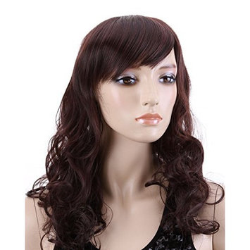 Charming lady Long DARK BROWN Curly wavy Wig Women's Lady's Wigs JF010349