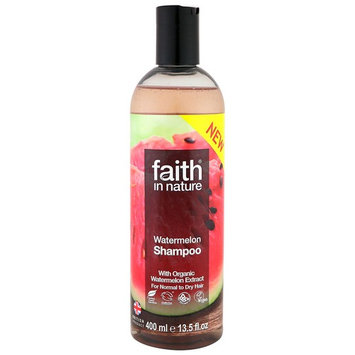 Faith in Nature, Shampoo, For Normal to Dry Hair, Watermelon, 13.5 fl oz (400 ml) [Scent : Watermelon]