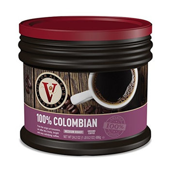 Victor Allen Medium Roast Ground Coffee, Colombian, 24.2 Ounce [100% Colombian]