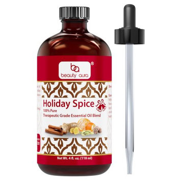 Beauty Aura Holiday Spice Essential Oil Blend 4oz (118 ml)