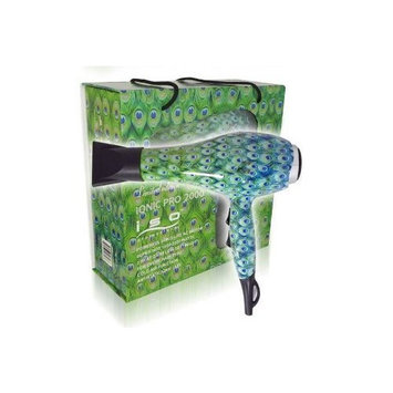 Iso Professional Hair Dryer Inoic Pro 2000 Limited Edition (PEACOCK)
