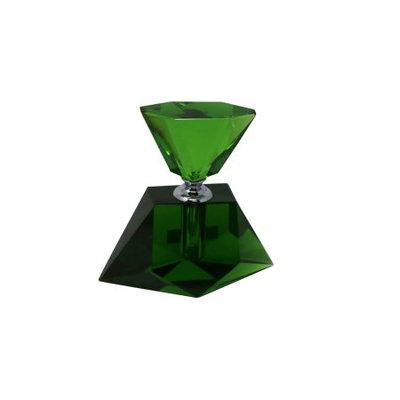 Benzara Elegant Green Crystal Perfume Bottle