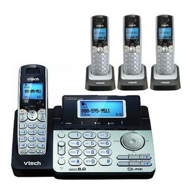 Vtech DS6151 + (3) DS6101 2 Line Expandable cordless phone w/ 3 additi