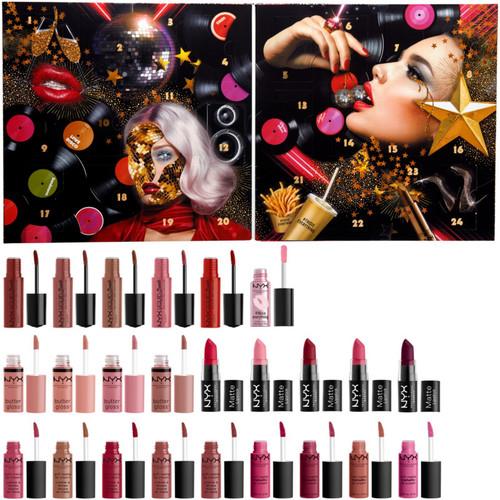 NYX Professional Makeup Love Lust Disco Greatest Hits Lip Advent Calendar