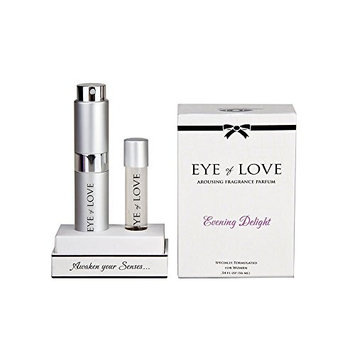 Evening Delight by Eye of Love Pheromone Highest Concentration Parfum Spray to Attract Men, 1 Bottle w/Refill.53 Fl Oz (16 Ml)