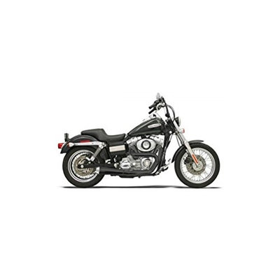 Bassani Exhaust Road Rage 2-into-1 System For Harley Davidson FXD and FXDWG Models 1991-Up - Black