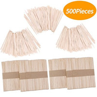 Senkary 500 Pieces Wooden Wax Sticks Waxing Sticks Wood Wax Applicator Sticks for Hair Removal (Large and Small)