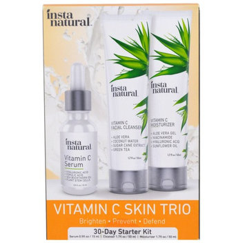 InstaNatural, Vitamin C Skin Care Trio, 30-Day Starter Kit for Brightening Facial Care, 3 Piece Kit