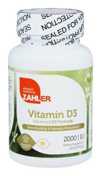 Zahler - Vitamin D3 2000 IU - 250 Softgels