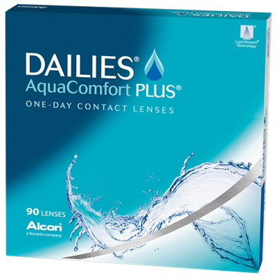 DAILIES AquaComfort Plus 90 Pack Contact Lenses