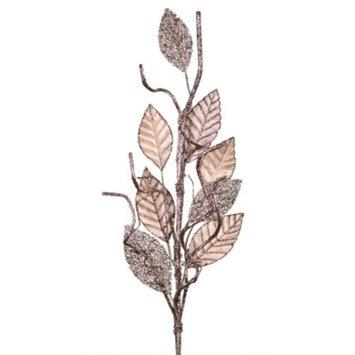 Pack of 6 Velvet Magnolia Glittered Leaf Artificial Christmas Sprays 36