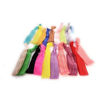 100ct Colorful Elastic No Crease Ribbon Hair Ties by Lana Victoria