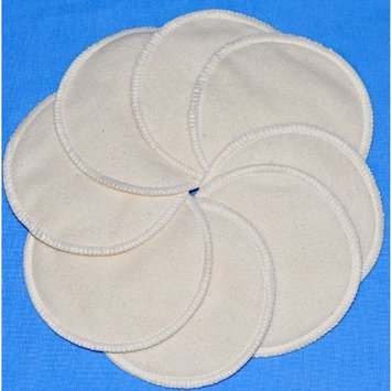 NuAngel Natural Cotton Washable Nursing Pads (8 Pads per Package)