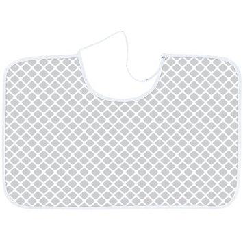 Kushies Nursing Canopy Flannel Lattice Grey