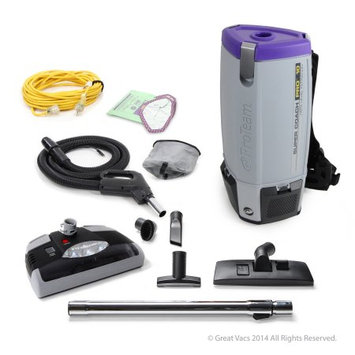 NEW Proteam Super Coach Pro 10 Qt. Vacuum Cleaner with Power Head, Grays