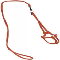 Dogline M8012-4 48 L x 0. 25 W inch Small Comfort Microfiber Round Step-In Harness, Orange