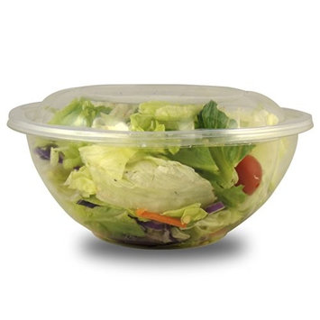 Jaya 100% Compostable Clear PLA Salad Bowl Lids, fits 24/32/48oz, 300-count case