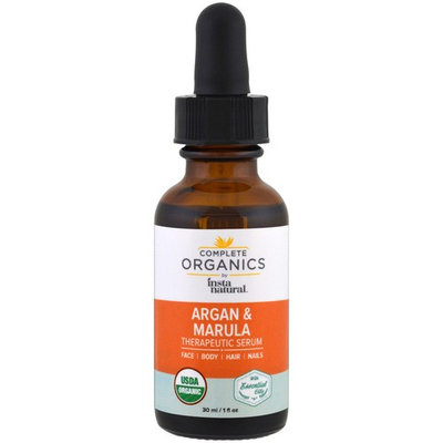 InstaNatural, Complete Organics, Therapeutic Serum, Argan Marula Oil, 1 fl oz (30 ml)