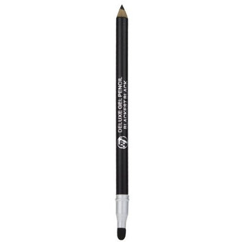 W7 Delux Gel Eye Liner Pencil With Smudger - Blackest Black