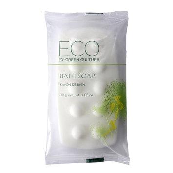 Eco by Green Culture Hotel Amenities Body Soap Bar, 1oz, 100 per case