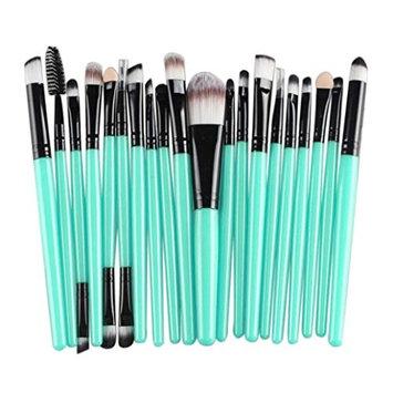 Leoy88 20 pcs Makeup Brush Set tools Complete Brush Set (Black)