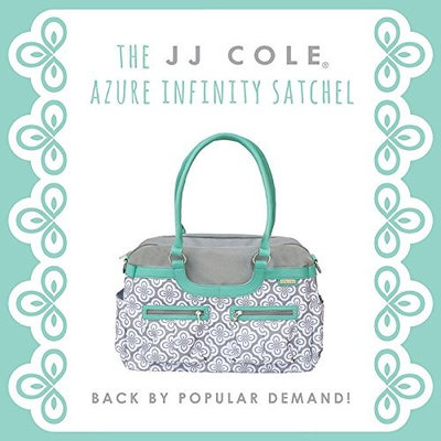 JJ Cole Satchel Diaper Bag, Azure Infinity