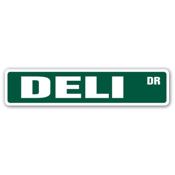 DELI Street Sign cold cuts cheese ham olives| Indoor/Outdoor | 24