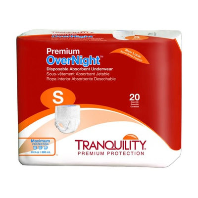 Tranquility Premium Overnight Premium OverNight Disposable Absorbent Underwear Small, 22 - 36 Inch, 20 Count - 6 Pack