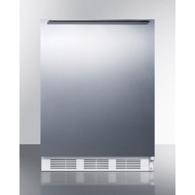 SUMMIT ADA compliant built-in all-refrigerator with auto defrost, stainless steel door, HH handle