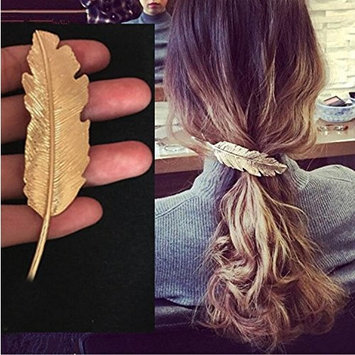 2Pieces(1Gold+1Silver) Elegant Leaf Design Women Lady Girl's Hair Clip Pin Claw Barrettes Party Hair Salon Accessories Hairpin Bobby Pin Wedding Bridesmaids Bridal Headwear Headdress Styling Styler
