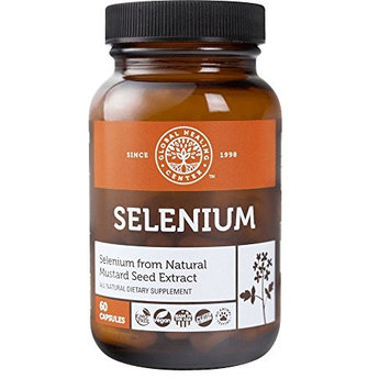 Global Healing Center Vegan-Friendly Selenium Made from Certified Organic Mustard Seed For Healthy Thyroid & Immune System (60 Capsules)