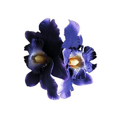 Double Orchid Flower Hair Clip, Violet
